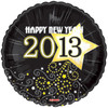 "18"" 2013 Happy New Year   Mylar Foil Balloon"