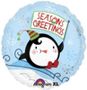 "18"" Season's Greetings Penguin   Mylar Foil Balloon"