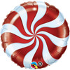"18"" Peppermint Red   Mylar Foil Balloon"