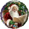 """18"""" Santa's Christmas List Mylar Foil Balloon"""