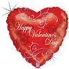"18"" Lavish Valentine   Mylar Foil Balloon"