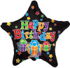 "18"" Birthday Big Dots Star   Mylar Foil Balloon"
