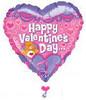 "34"" Care Bear Happy Valentine's Day Mylar Foil Balloon"