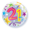 "22"" 21 Brilliant Stars Bubble Balloon"