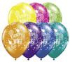 "16"" Birthday Wishes Fantasy Jewel Assortment Latex Balloons"
