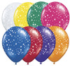"16"" Stars-A-Round Jewel Assortment Latex Balloons"