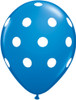 "11"" Big Polka Dots Standard Dark Blue Latex Balloons"
