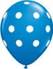 "11"" Big Polka Dots Standard Dark Blue Latex Balloons"