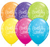"11"" Birthday Wishes Dots Tropical Assortment Latex Balloons"