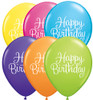 "11"" Birthday Classy Script Tropical Assortment Latex Balloons"