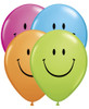 "11"" Smiley Face Assortment  Latex Balloons"