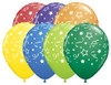 "11"" Stars, Dots & Confetti Carnival Assortment Latex Balloons"