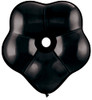 "16"" Geo Blossom Black Latex Balloons"
