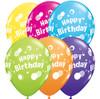 "11"" Birthday Polka Dots Tropical Assortment Latex Balloons"