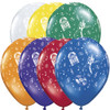 "11"" Rock 'n Roll Assortment Latex Balloons"