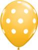 "11"" Big Polka Dots Goldenrod Latex Balloons"