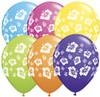 "11"" Hibiscus Flowers Tropical Assortment Latex Balloons"