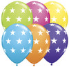 "11"" Big Stars Tropical Assortment Latex Balloons"