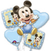 Mickey 1st Birthday Boy Balloon Combo Pack