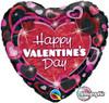 "36"" Valentine Shimmering Hearts Jumbo  Mylar Foil Balloon"