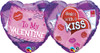 "18"" Valentine Sealed With A Kiss  Mylar Foil Balloon"