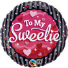 "18"" To My Sweetie Hearts & Dots  Mylar Foil Balloon"