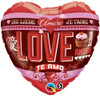 "18"" Love In Many Languages  Mylar Foil Balloon"