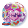 "22"" Bubble Be Mine Valentine Bubble Balloon"