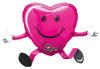 "26"" Balloon Buddy Magenta Happy Hugs Shape Mylar Foil Balloon"