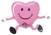 "26"" Balloon Buddy Pink Happy Hugs Shape Mylar Foil Balloon"