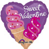 "18"" Valentine Ice Cream Cones  Mylar Foil Balloon"