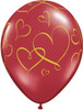 "11"" Romantic Hearts Latex Balloons"