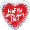 "18"" Valentine Heart  Mylar Foil Balloon"