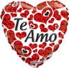 "18"" Te Amo Hearts  Mylar Foil Balloon"