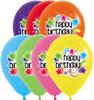 "11"" Starburst Birthday Assortment Latex Balloons"