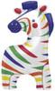 "35"" Zebra Colorful Shape Mylar Foil Balloon"