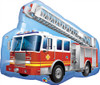 "36"" Big Fire Truck Shape Mylar Foil Balloon"