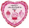 "18"" Valentine Hearts Galore Cupcake  Mylar Foil Balloon"