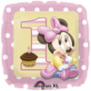 "18"" 1st Birthday Minnie  Mylar Foil Balloon"