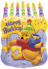 "23"" Pooh Birthday Cake Shape Mylar Foil Balloon"