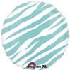 """18"""" Zebra Robin's Egg  Mylar Foil Balloon"""