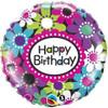 "18"" Birthday Daisy Pattern  Mylar Foil Balloon"
