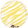 "18"" Zebra Yellow  Mylar Foil Balloon"