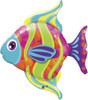 """43"""" Fashionable Fish Shape Mylar Foil Balloon"""