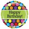 "21"" Mighty Polka Dots Birthday Balloon"