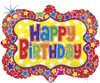"30"" Ornate Frame Birthday Shape Mylar Foil Balloon"