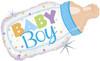 "33"" Baby Bottle Boy Shape Mylar Foil Balloon"