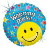 "18"" Welcome Back Smiley  Mylar Foil Balloon"