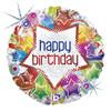 "18"" Starburst Birthday  Mylar Foil Balloon"