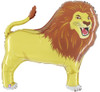 "41"" Lion  Shape Mylar Foil Balloon"